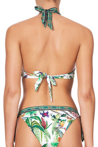KNOT FRONT HALTER WITH SOFT TIE DAINTREE DARLING