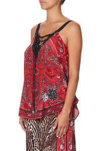 LACE UP EYELET CAMI PIRATE PUNK