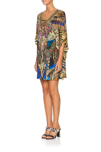 CAMILLA LACE UP KAFTAN WITH ROUND HEM STRONGER TOGETHER