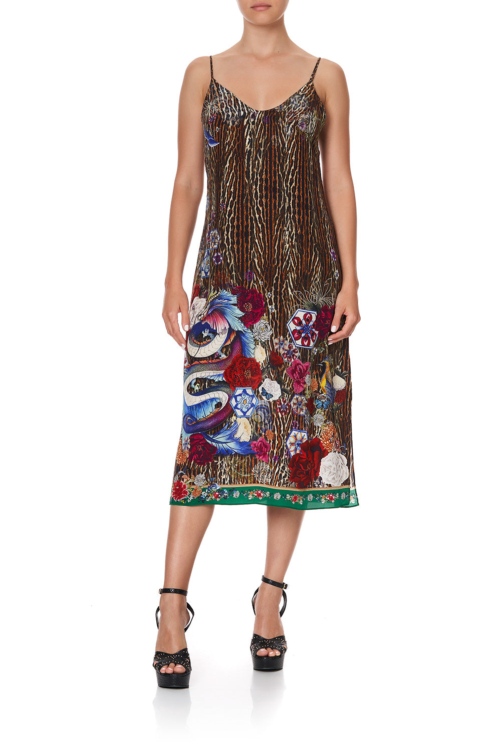LACE UP MIDI DRESS JEWEL OF JUPITER