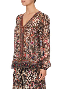 LACE UP SIDE BLOUSE LIV A LITTLE