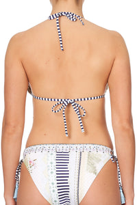 LACE UP SLIDE TRI HALTER BEACH SHACK