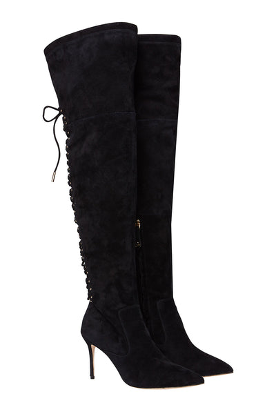 CAMILLA LACED THIGH HIGH BOOT BLACK CONTEMPOARY