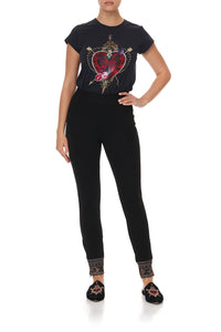 LEGGINGS WITH CONTRAST CUFF MIRROR MIRROR