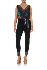 LEGGINGS WITH CONTRAST CUFF WISE WINGS