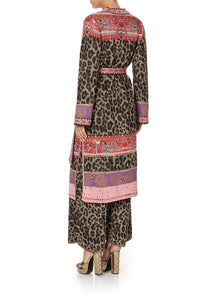 LONG CARDIGAN WITH BELT LOTUS LOVERS