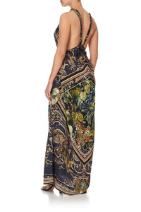 LONG DRESS WITH HALTER NECKLINE SEVEN DAY WEEKEND