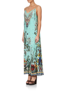 LONG DRESS WITH SHEER UNDERLAY MILLAS BACKYARD