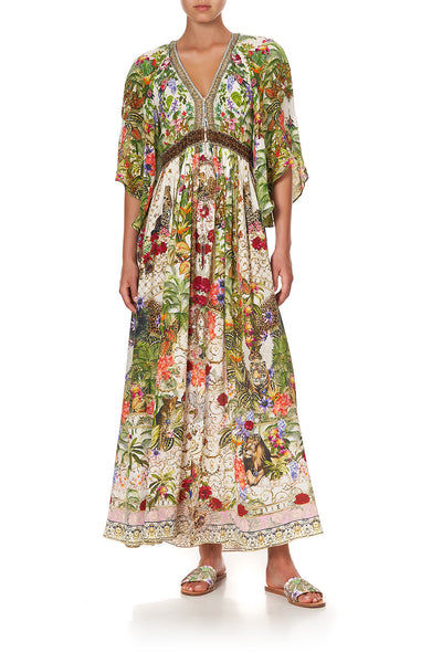 LONG DRESS WITH SMOCKED WAIST FAIR VERONA