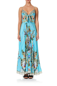 LONG DRESS WITH TIE FRONT GIRL FROM ST TROPEZ