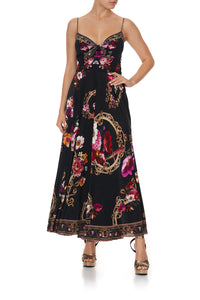 LONG DRESS WITH TIE FRONT MIRROR MIRROR