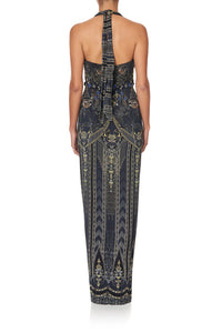 LONG JERSEY HALTER DRESS GREAT SCOTT