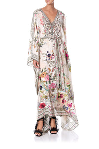 SPLIT HEM LACE UP KAFTAN JARDIN POSTCARDS