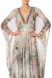 LONG KAFTAN WITH WAISTBAND LETTERS FROM HILDA