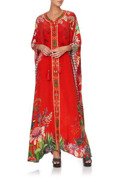 LONG LACE UP KAFTAN WITH EYELETS FARAWAY TREE