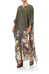 LONG LACE UP KAFTAN WITH EYELETS WATCHFUL WINGS
