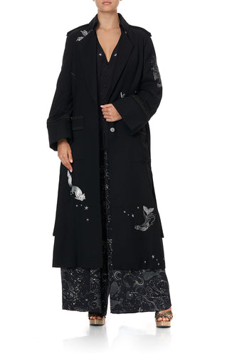 LONG MILITARY COAT ASTRO DISCO