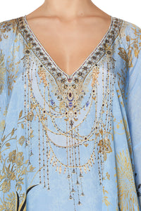 LONG RAGLAN SLEEVE FLARED KAFTAN FAIRY FOUNTAIN