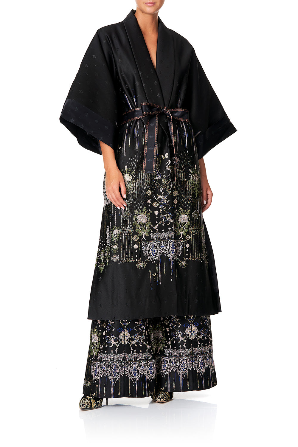 CAMILLA LONG ROBE WITH HEM PANEL REBELLE REBELLE