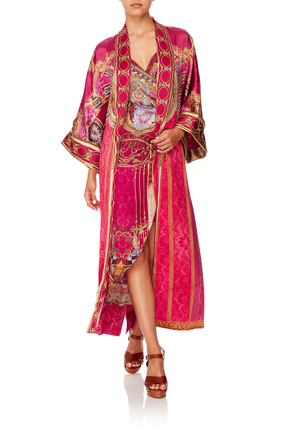 LONG ROBE WITH NARROW COLLAR LOUNGE HOUR