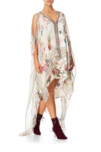 CAMILLA LONG SHEER OVERLAY DRESS JARDIN POSTCARDS