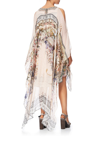 LONG SHEER OVERLAY DRESS KINDRED SKIES