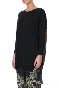 LONG SLEEVE JUMPER WITH PRINT BACK BOTANICAL CHRONICLES