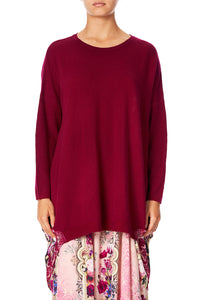 CAMILLA LONG SLEEVE JUMPER WITH PRINT BACK LA BELLE