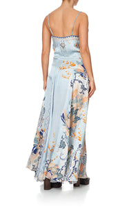 LONG SLIP DRESS WITH GODETS FRASER FANTASIA