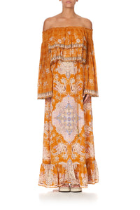LONG TIERED RUFFLE DRESS MARRAKESH MAIDEN