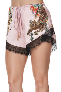 LOOSE LACE HEM SHORT ZIBA ZIBA
