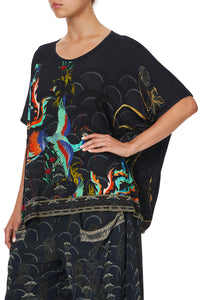 LOOSE ROUND NECK TEE RAPTUROUS