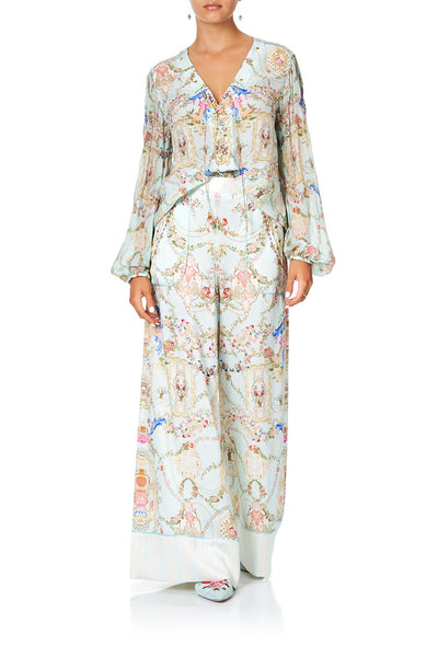 CAMILLA LOUNGE TROUSER WITH CUFFS VERSAILLES SKY