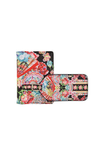 LUGGAGE TAG & PASSPORT WALLET PAINTED LAND