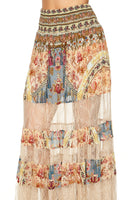 MAXI SKIRT WITH LACE INSERTS JEANNE QUEEN