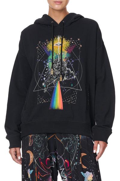 HOODIE WITH SIDE POCKETS MIDNIGHT MOON HOUSE