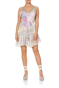 MINI DRESS WITH RUFFLE HEM MERMAID MILLA