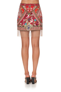 EMBELLISHED MINI SKIRT CAMEOS CAN CAN