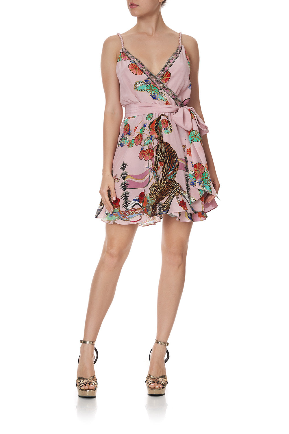 MINI WRAP DRESS WITH TWIST STRAPS ZIBA ZIBA