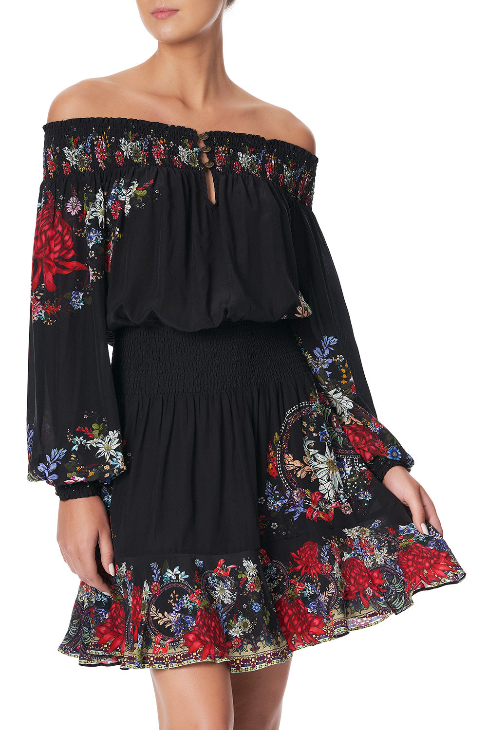 OFF SHOULDER SHORT DRESS MS MATILDA