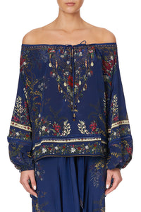 OFF THE SHOULDER BLOUSE WINGS IN ARMS