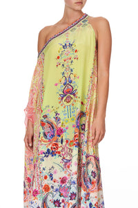 ONE SHOULDER KAFTAN WITH NECKBAND PEACE MOVEMENT