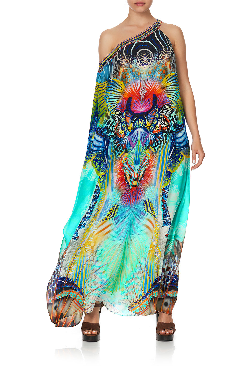 ONE SHOULDER KAFTAN WITH NECKBAND REEF WARRIOR
