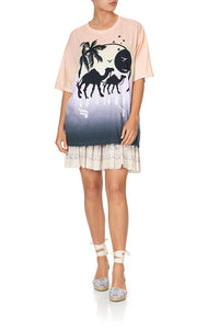 OVERSIZE BAND TEE MERMAID MILLA