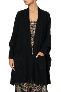 OVERSIZED PATCH POCKET CARDIGAN STUDIO 54
