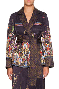 CAMILLA PAJAMA SUIT JACKET WILD FLOWER