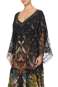 PANEL DRESS WITH LACE SLEEVE MATERNAL INSTINCT