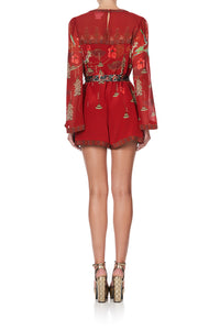 PANELLED PLAYSUIT WITH BELT FORBIDDEN FRUIT