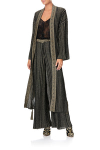 METALLIC KNIT CARDI WITH TIE REBELLE REBELLE