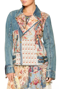 CAMILLA PATCHWORK DENIM JACKET JEANNE QUEEN